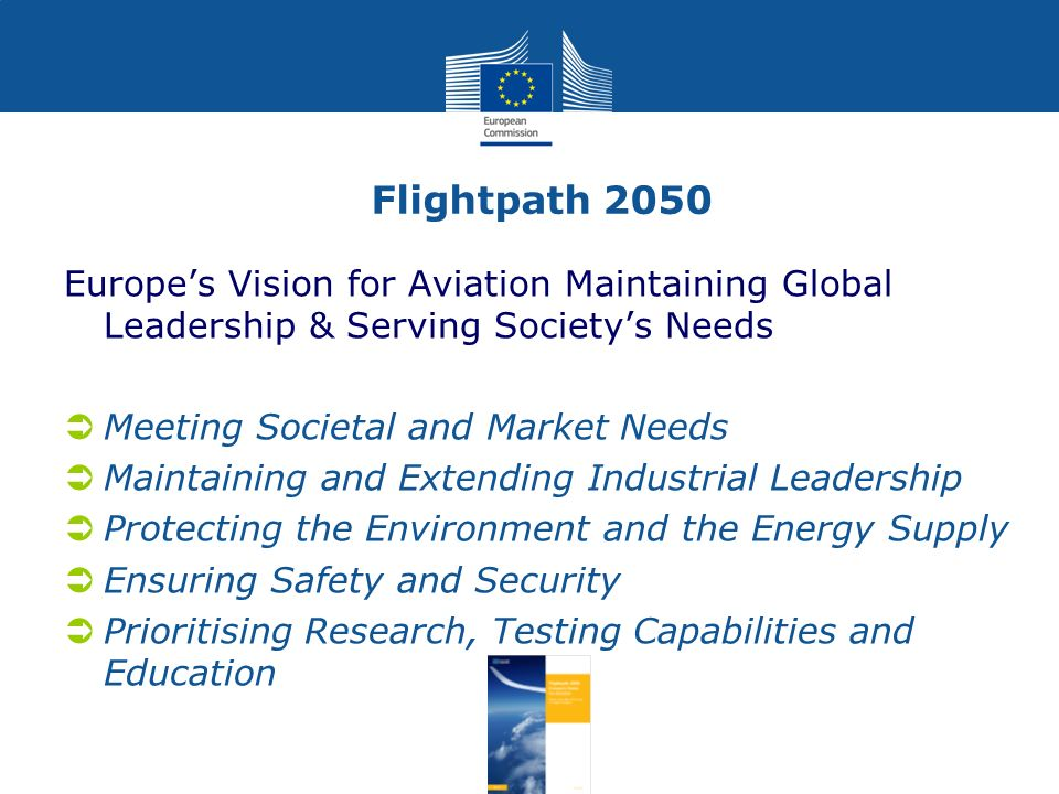 Flightpath 2050 Europe's Vision for Aviation Maintaining Global Leadership & Serving Society's Needs.