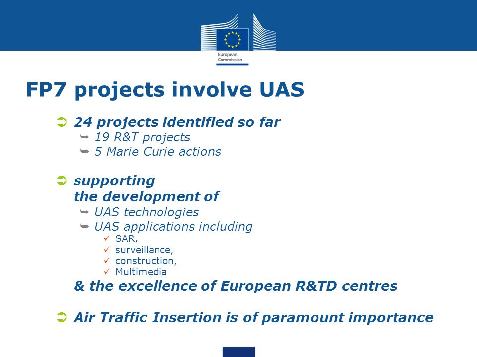 FP7 projects involve UAS