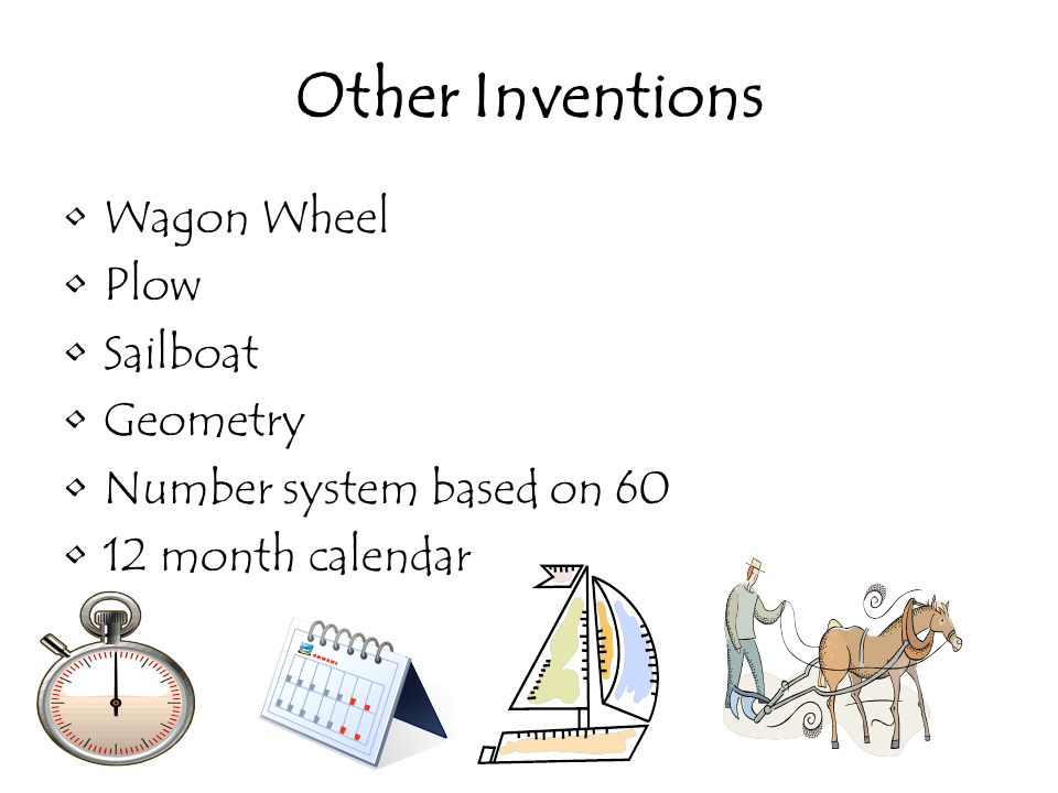 Other Inventions Wagon Wheel Plow Sailboat Geometry