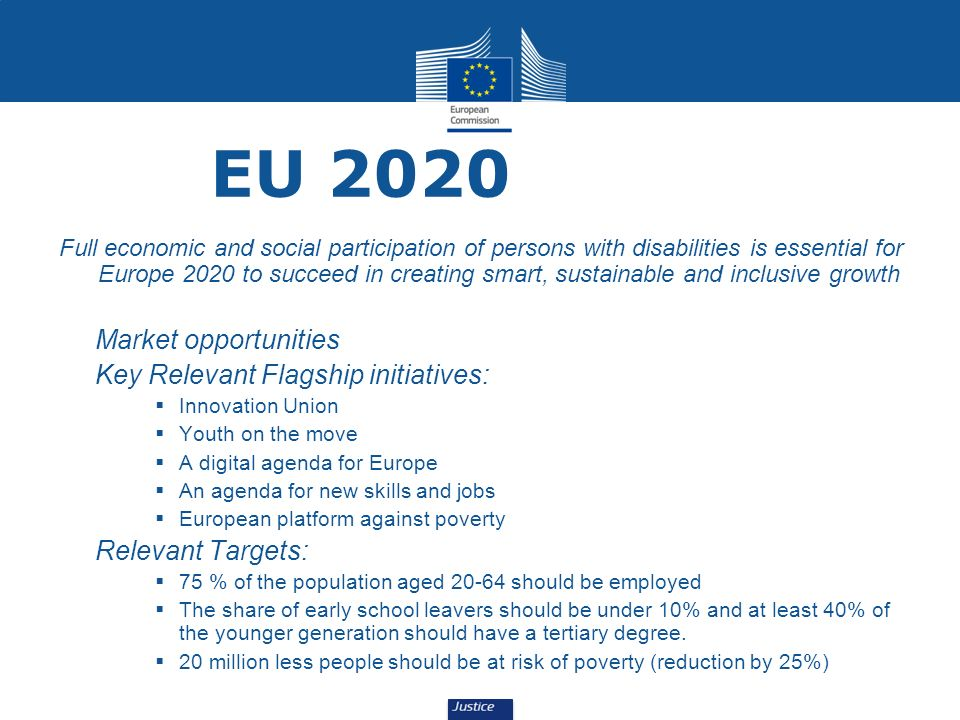 EU 2020 Market opportunities Key Relevant Flagship initiatives: