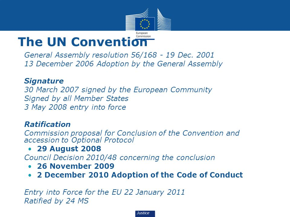 The UN Convention General Assembly resolution 56/168 - 19 Dec. 2001