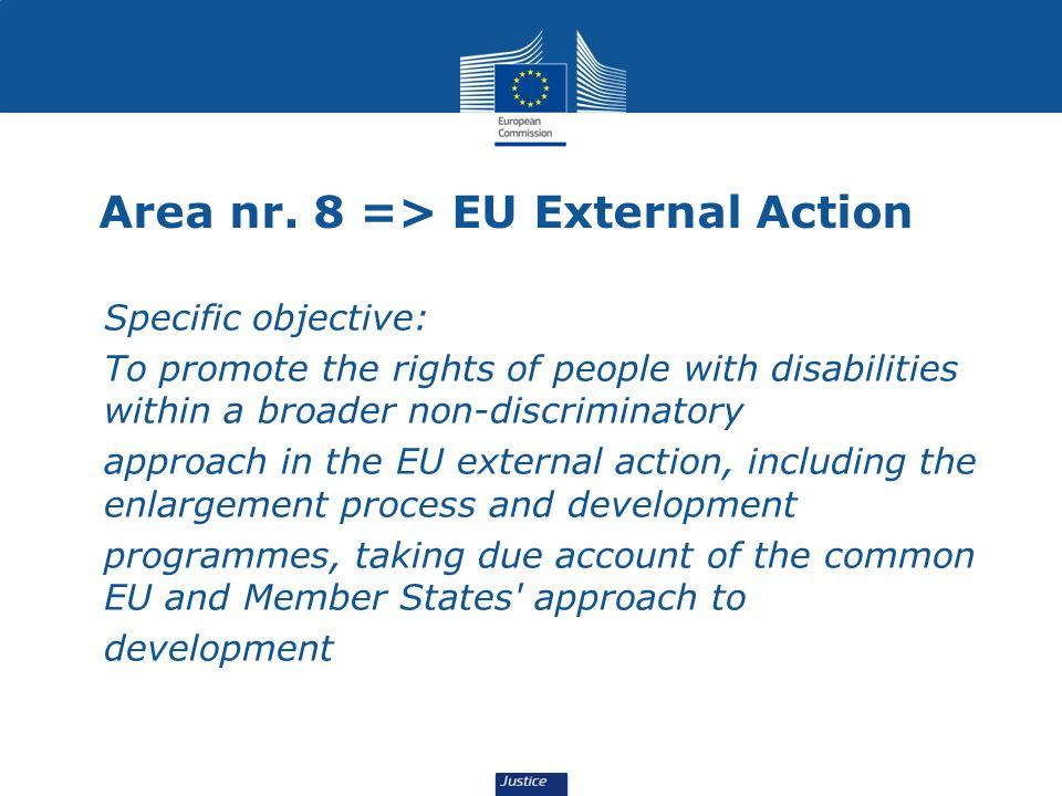 Area nr. 8 => EU External Action