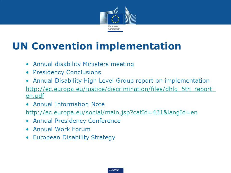 UN Convention implementation