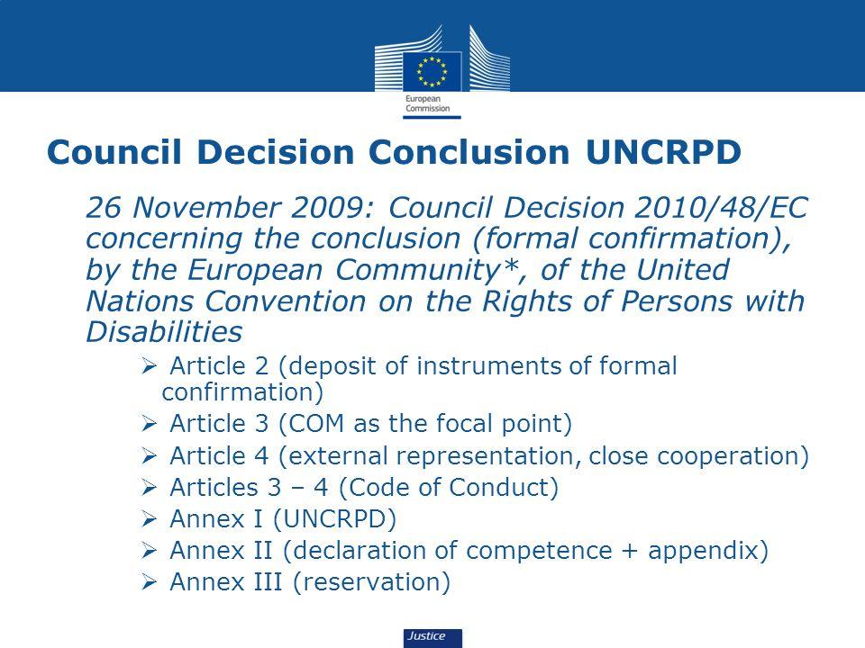 Council Decision Conclusion UNCRPD