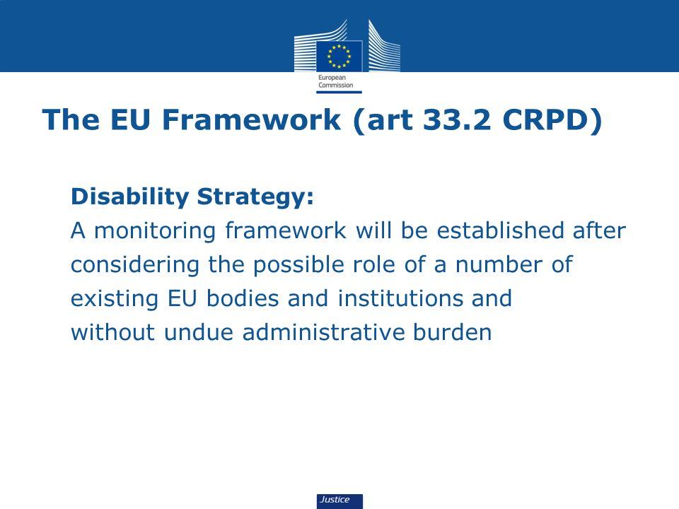 The EU Framework (art 33.2 CRPD)