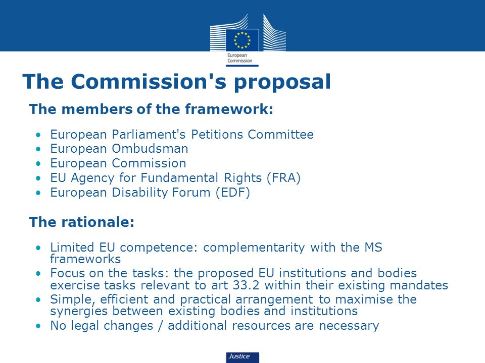 The Commission s proposal