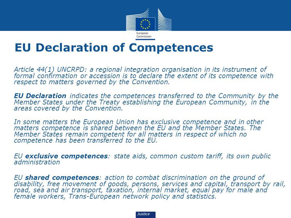 EU Declaration of Competences