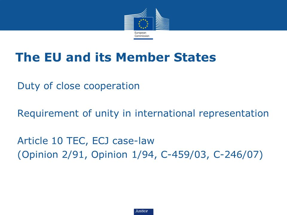 The EU and its Member States