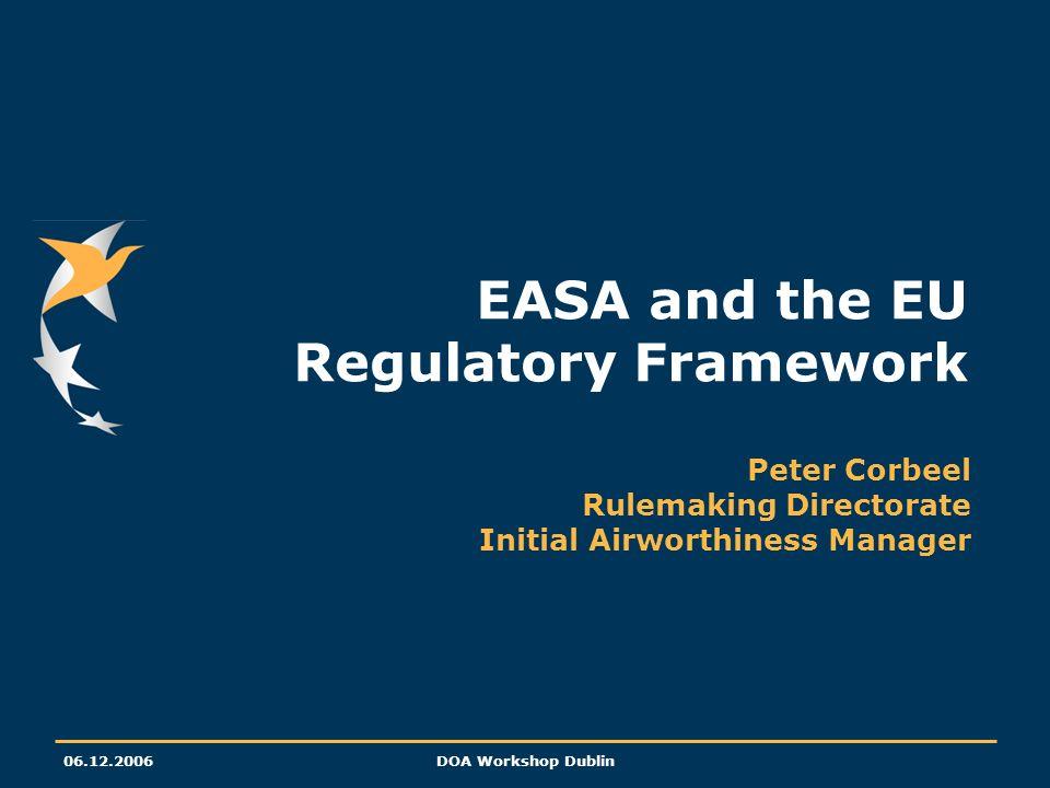 EASA and the EU Regulatory Framework