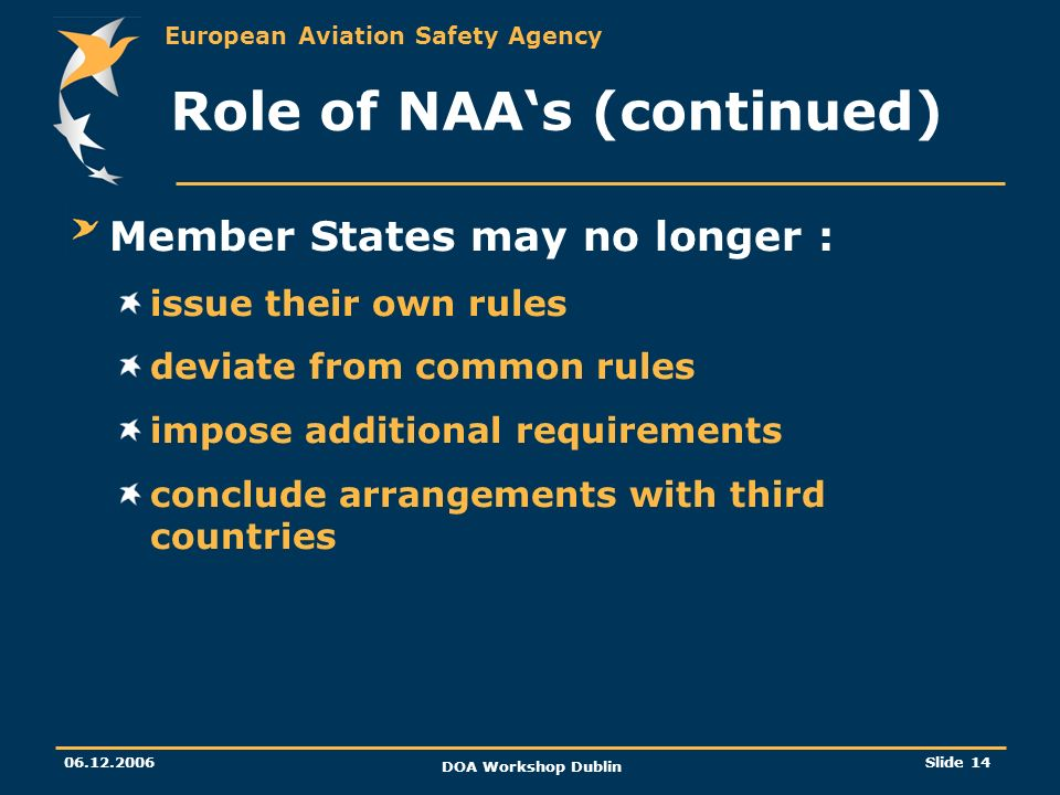 Role of NAA's (continued)