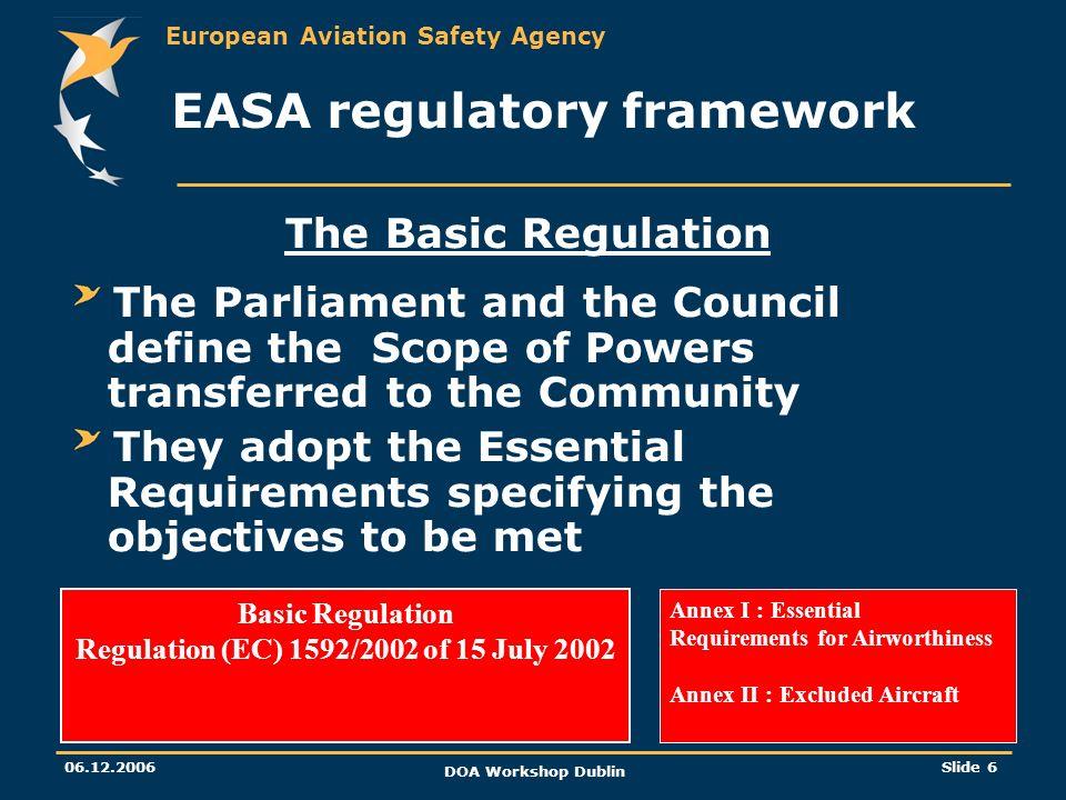 EASA regulatory framework