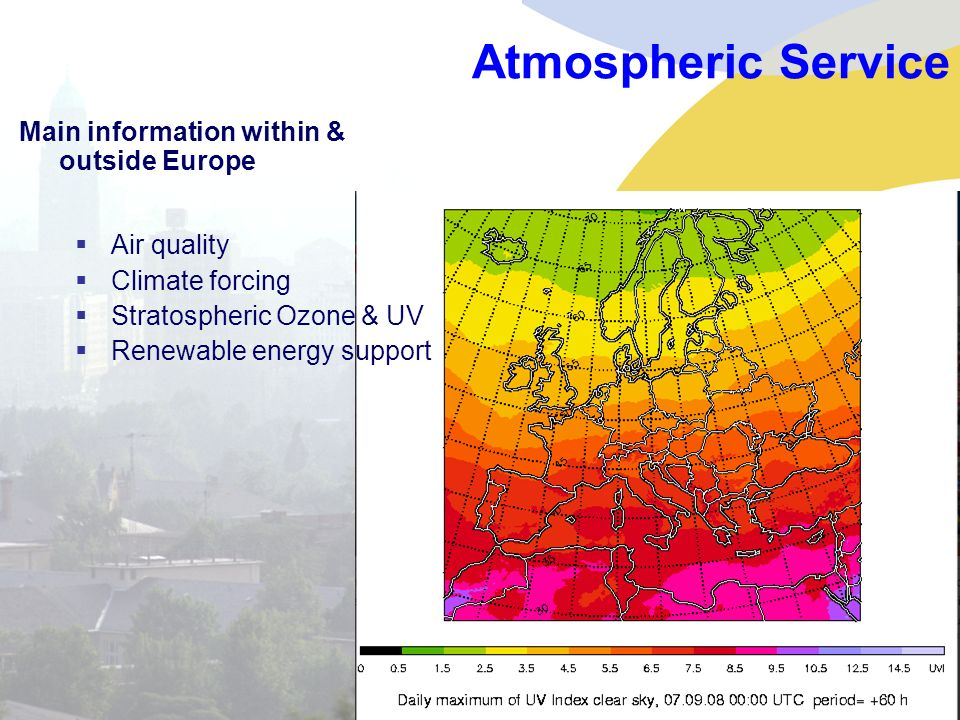 Atmospheric Service Main information within & outside Europe