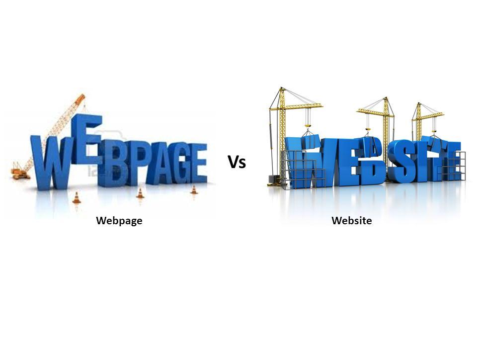 webpage vs website