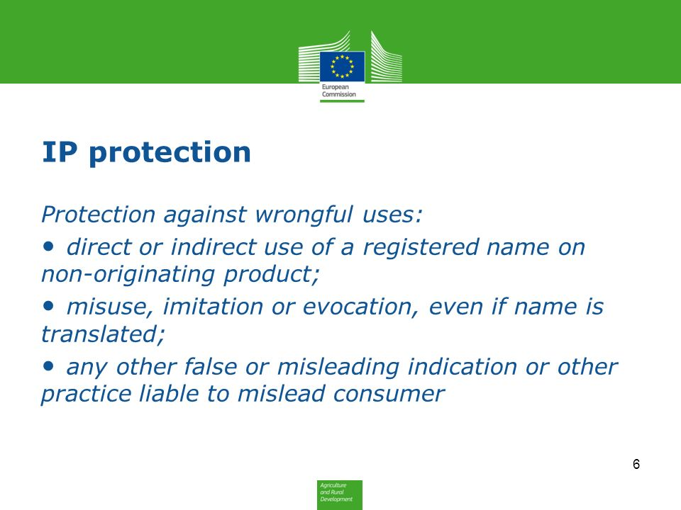IP protection Protection against wrongful uses: