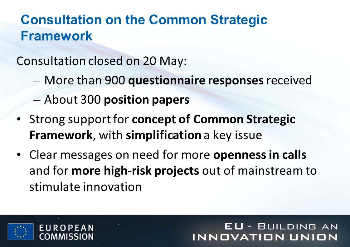 Consultation on the Common Strategic Framework