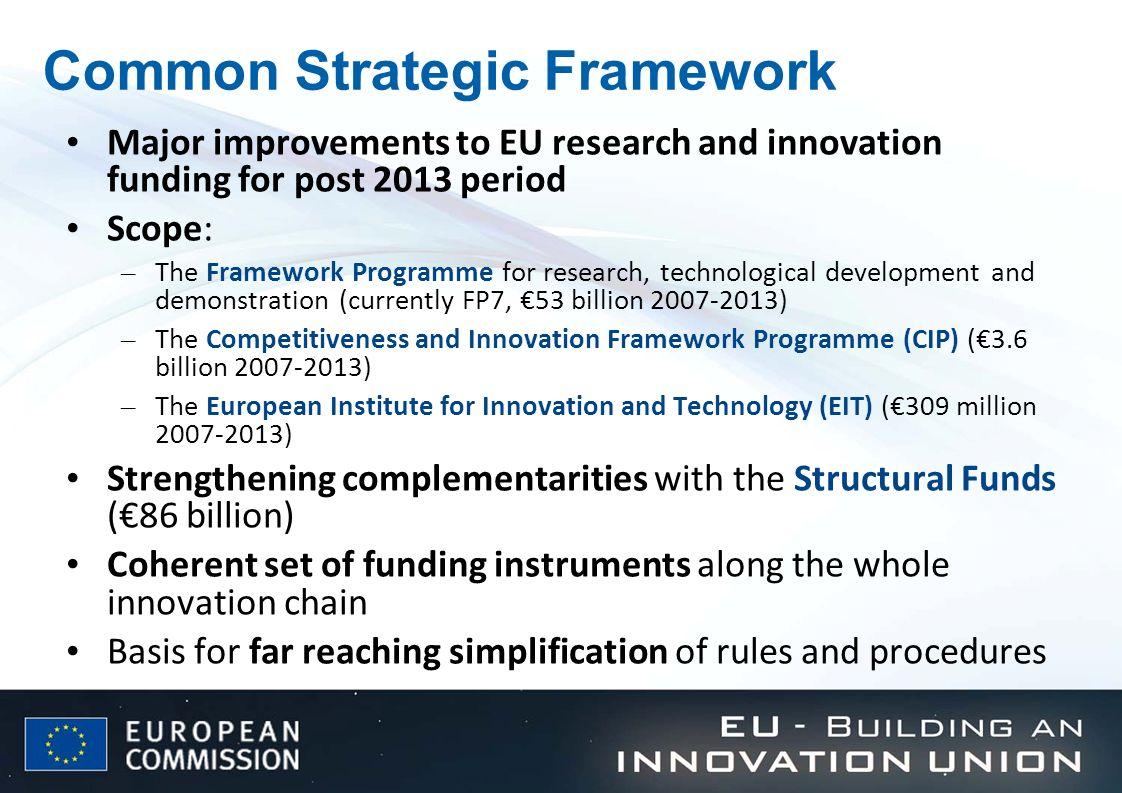 Common Strategic Framework