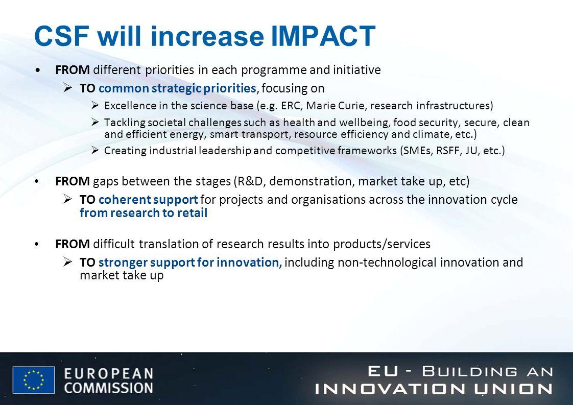 CSF will increase IMPACT