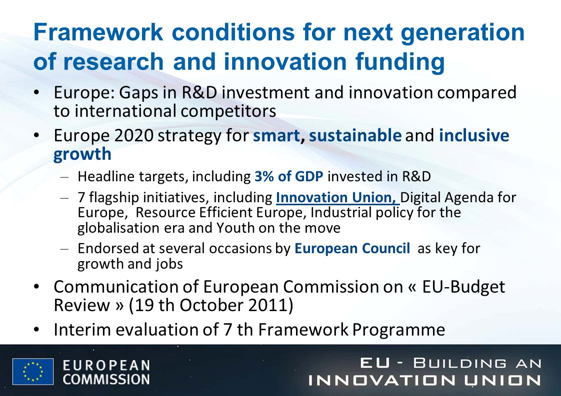 Framework conditions for next generation of research and innovation funding