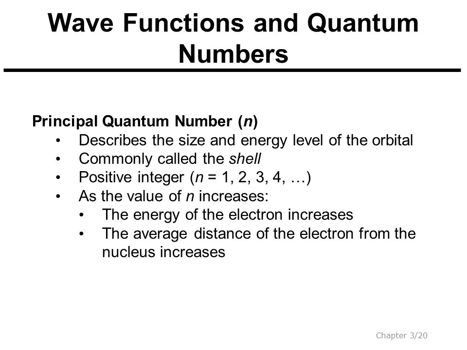 Wave Functions and Quantum Numbers