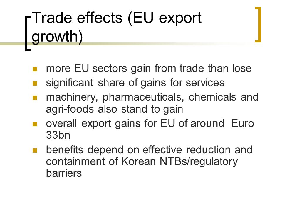 Trade effects (EU export growth)