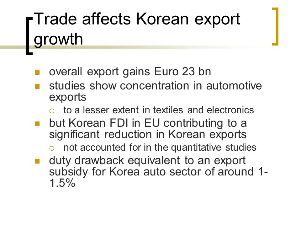 Trade affects Korean export growth
