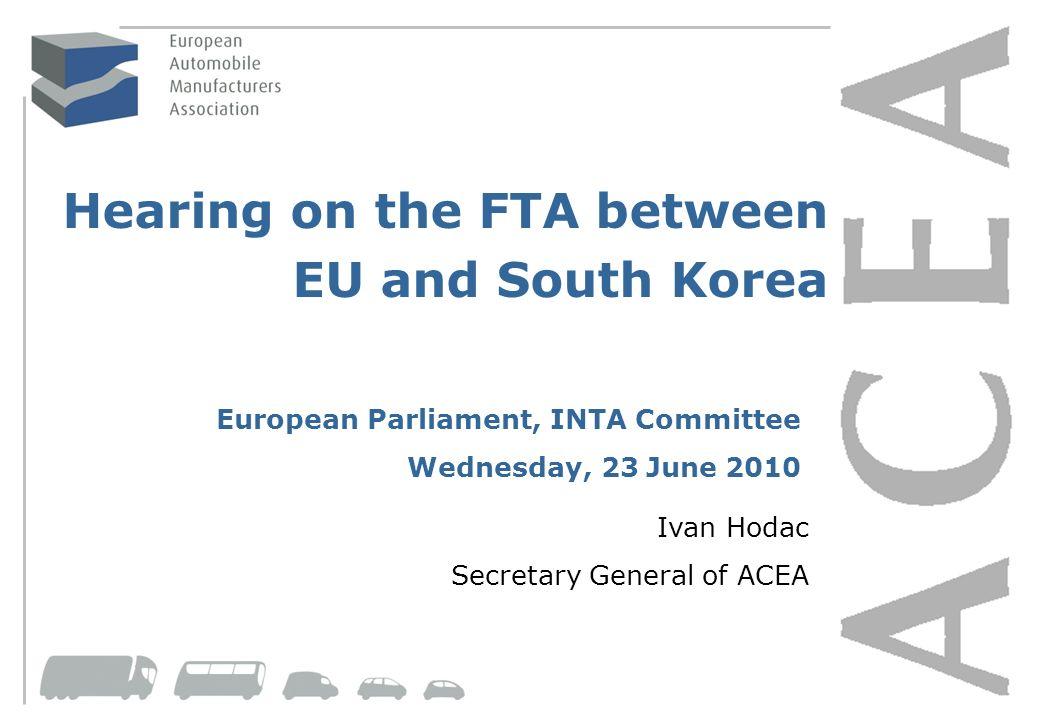 Hearing on the FTA between EU and South Korea