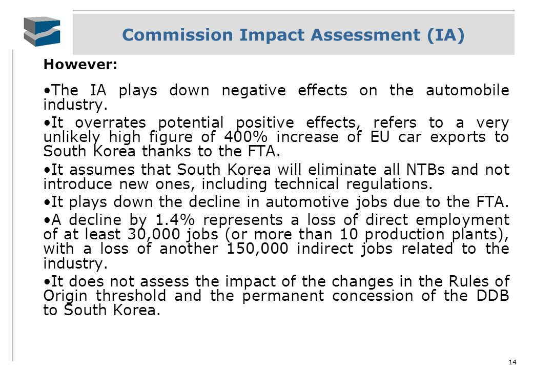 Commission Impact Assessment (IA)