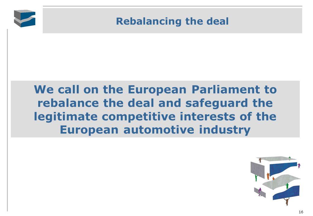 Rebalancing the deal