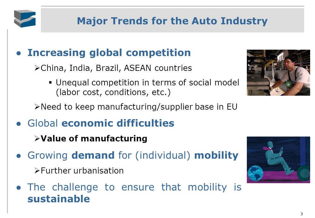 Major Trends for the Auto Industry