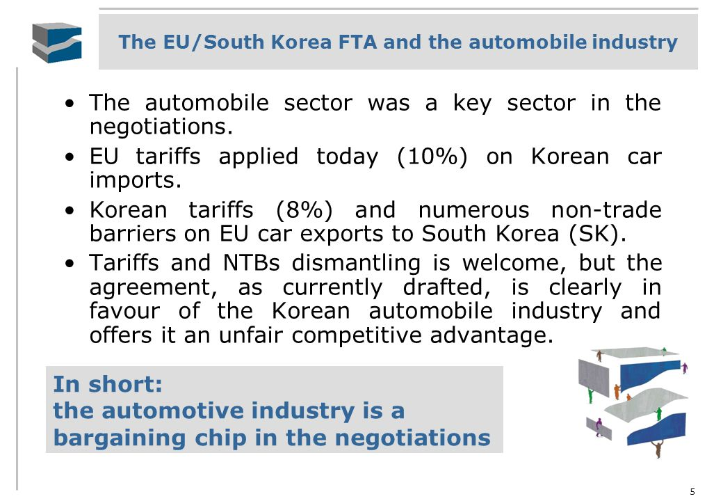 The automobile sector was a key sector in the negotiations.