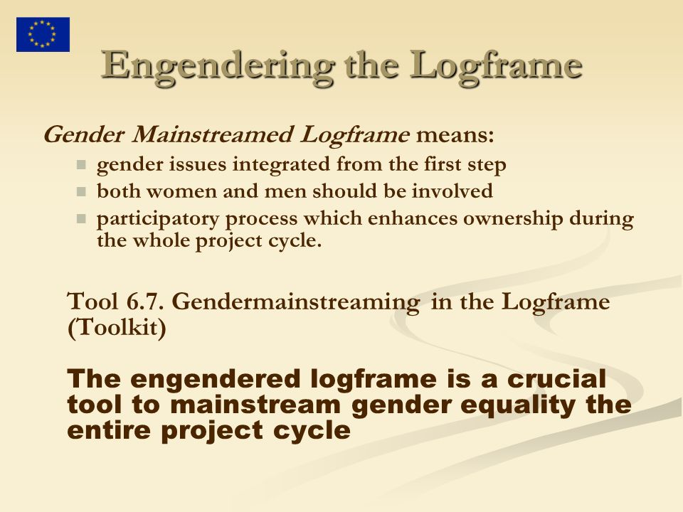 Engendering the Logframe