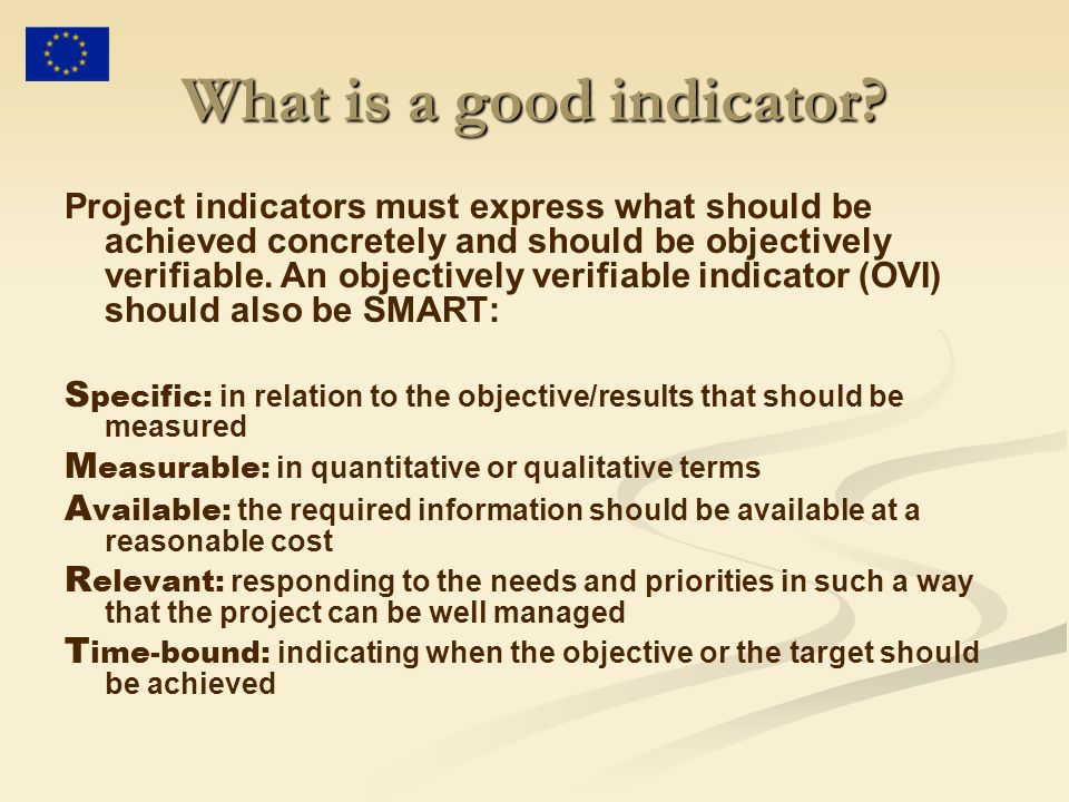 What is a good indicator