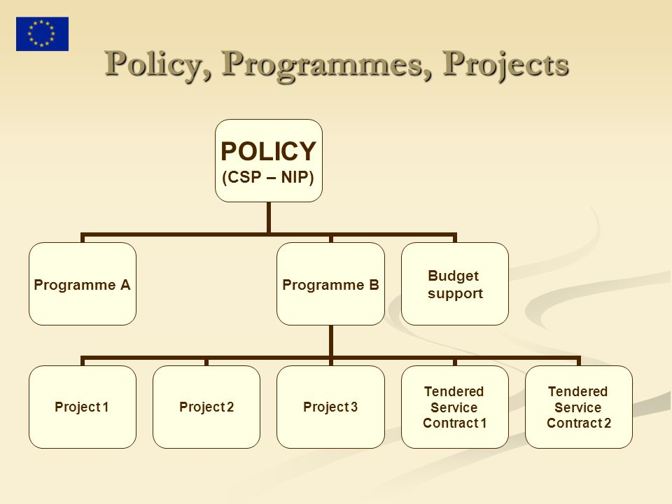 Policy, Programmes, Projects