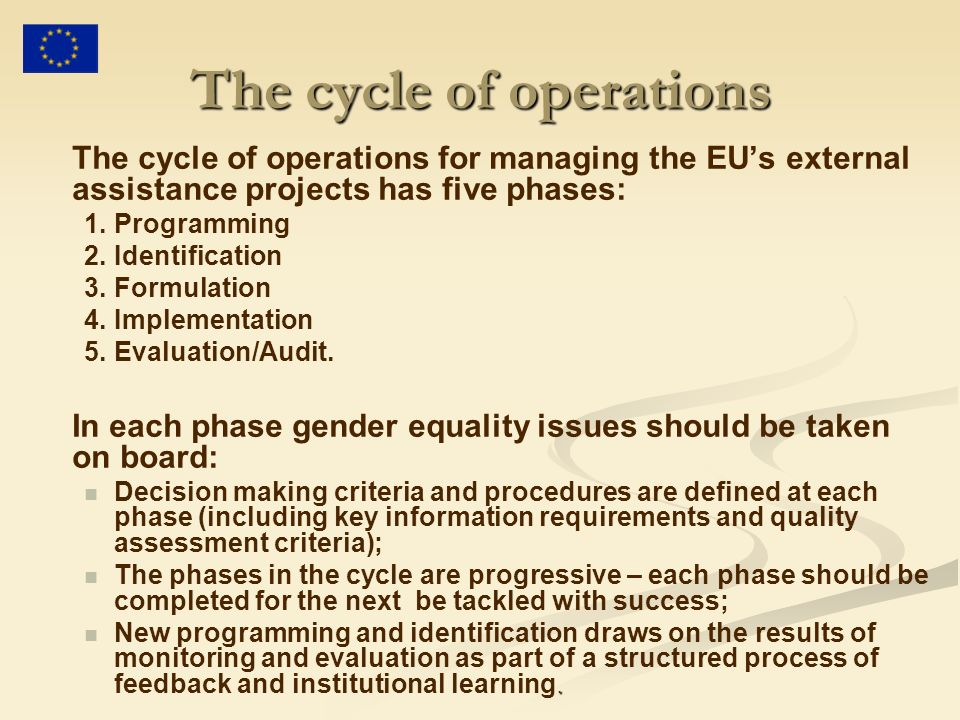 The cycle of operations