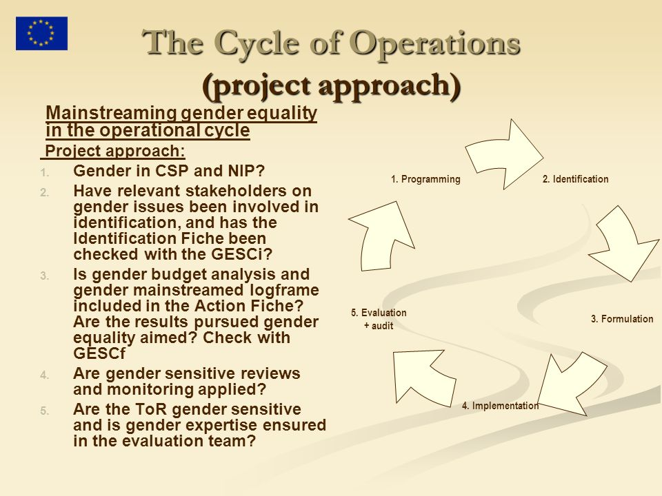 The Cycle of Operations (project approach)