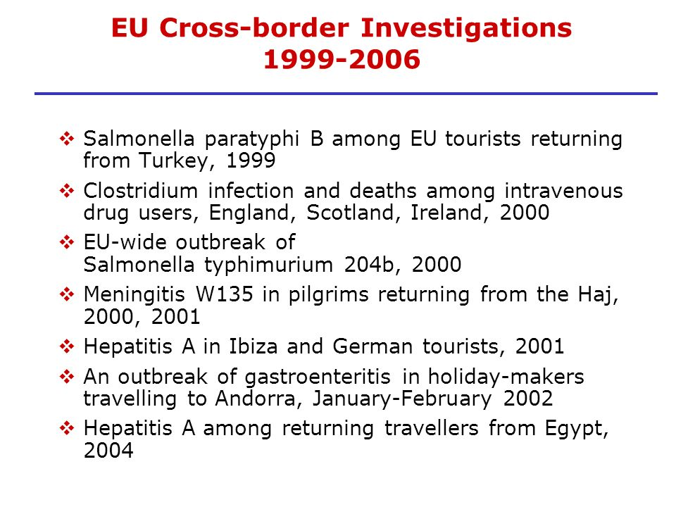 EU Cross-border Investigations
