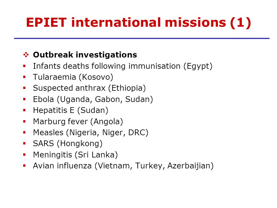 EPIET international missions (1)