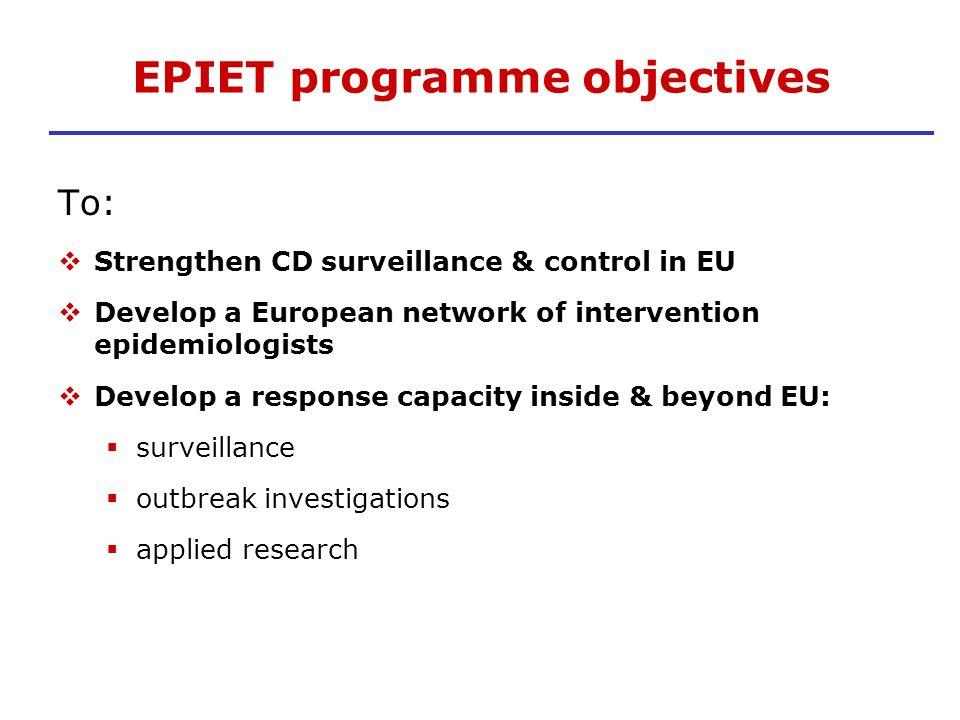 EPIET programme objectives