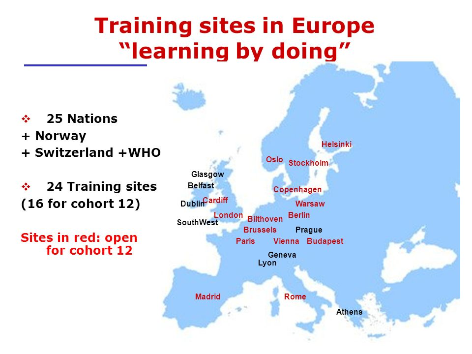 Training sites in Europe learning by doing