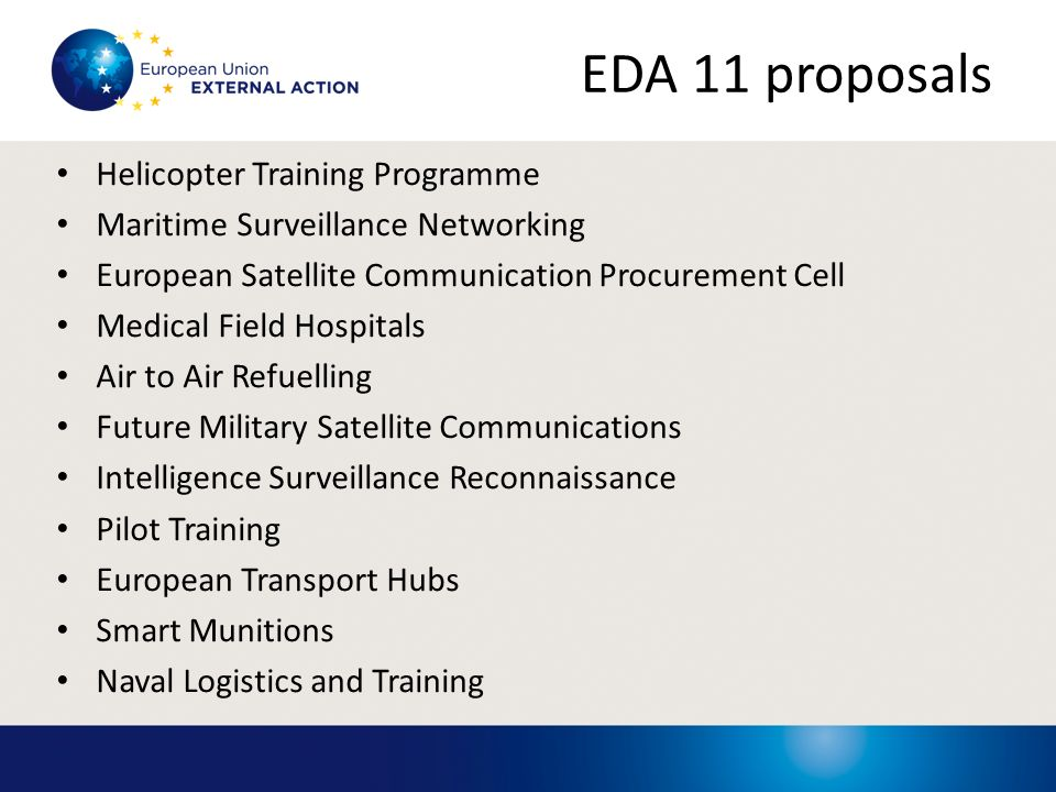EDA 11 proposals Helicopter Training Programme