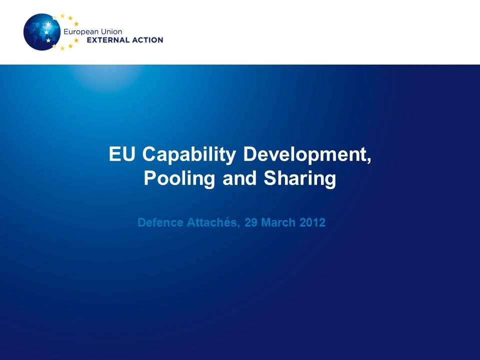 EU Capability Development, Pooling and Sharing
