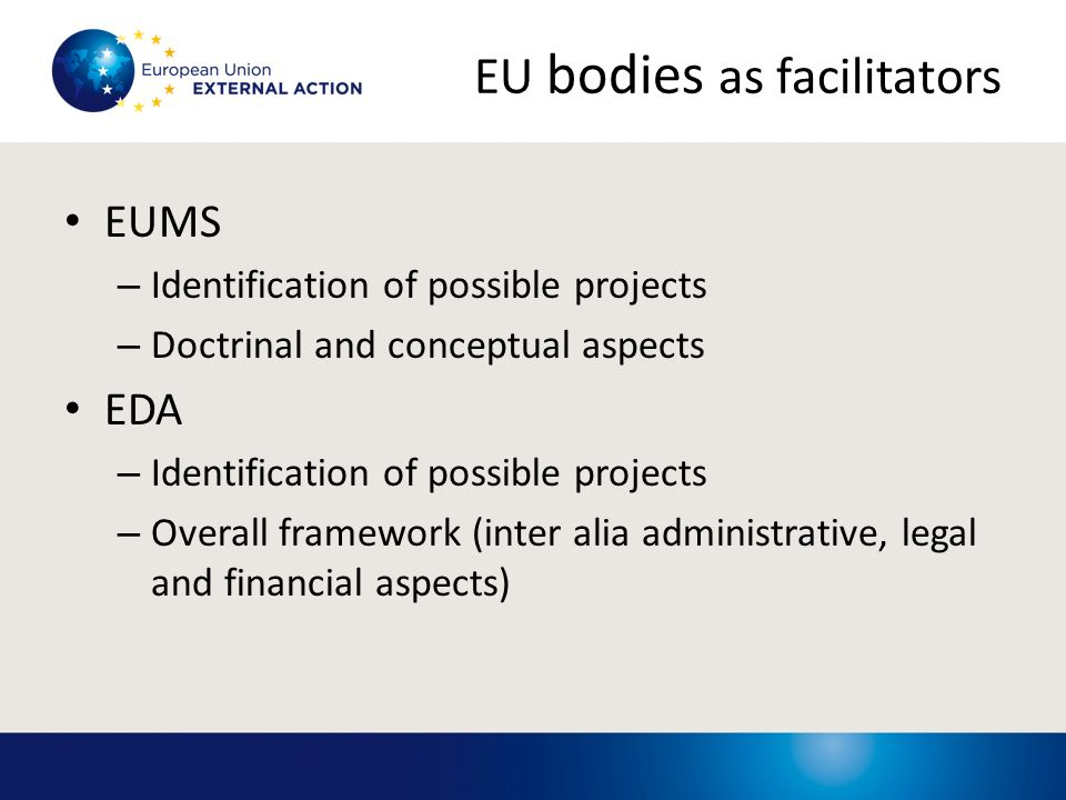 EU bodies as facilitators