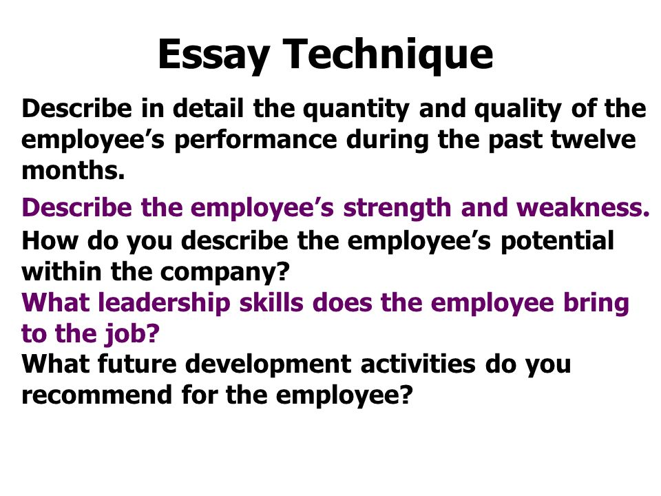 quantitative techniques essay example