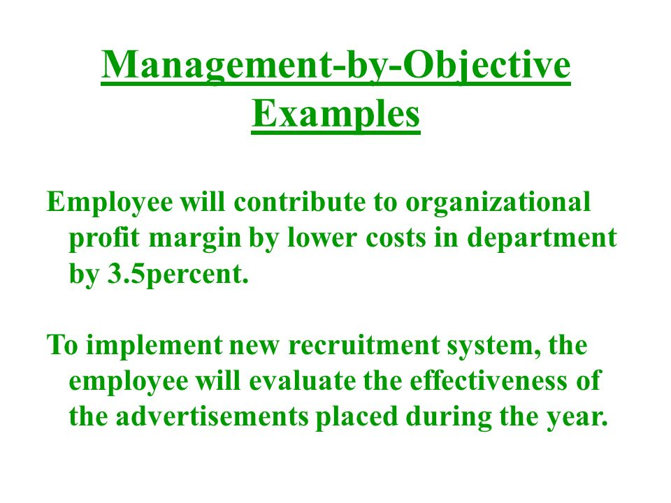 manage by objective template - performance management ppt video online download