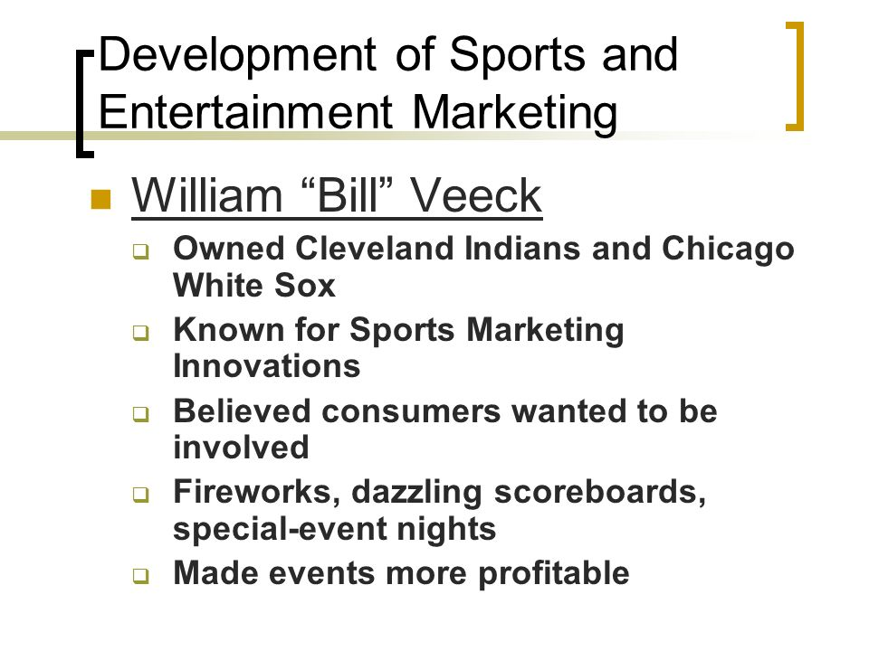 sports marketing entertainment Find jobs in sports and entertainment marketing apply for a career at octagon, the top sports marketing agency in the world.