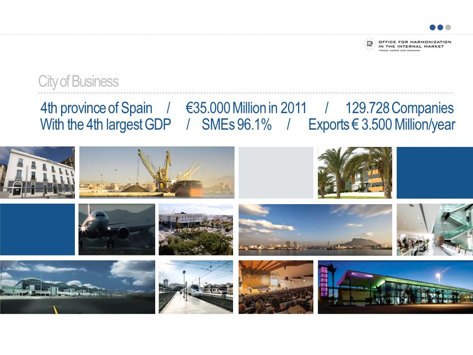 City of Business 4th province of Spain / €35.000 Million in 2011 /