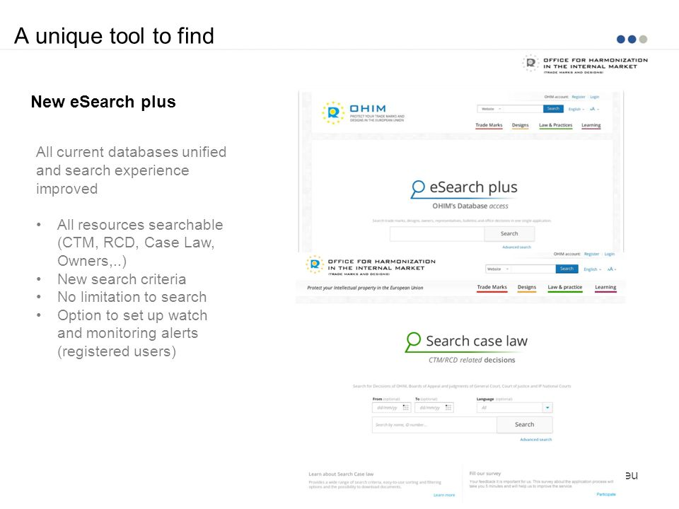 A unique tool to find New eSearch plus