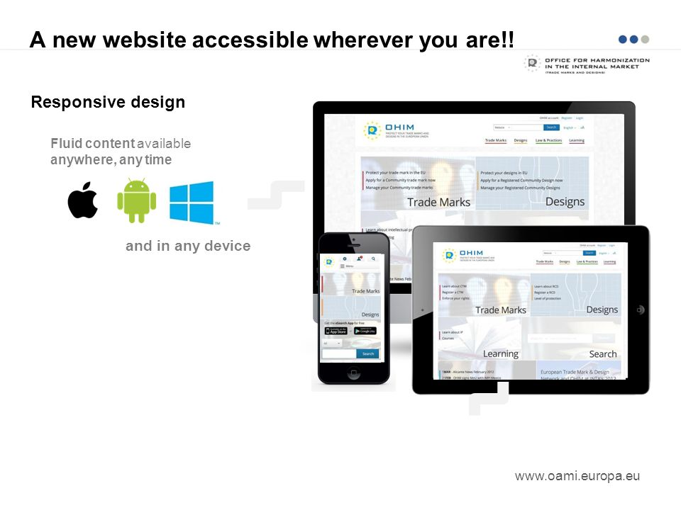 A new website accessible wherever you are!!