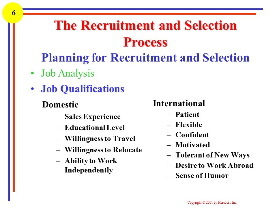 What Is the Purpose of a Job Analysis as It Relates to Recruitment and Selection?