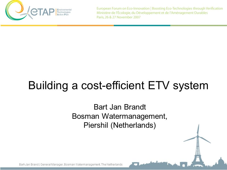 Building a cost-efficient ETV system